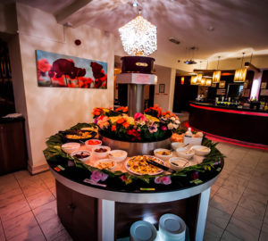 The iconic salad bar area at the Newcastle Buffet Island restaurant.